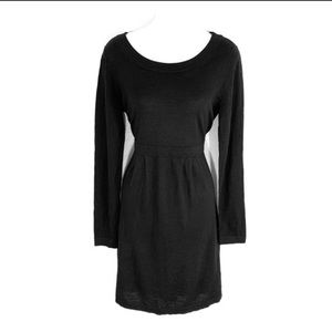 Banana Republic black merino wool sweater dress